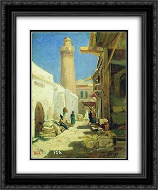 Baku 20x24 Black or Gold Ornate Framed and Double Matted Art Print by Alexey Bogolyubov