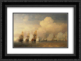 Battle of Krasnaya Gorka 24x18 Black or Gold Ornate Framed and Double Matted Art Print by Alexey Bogolyubov