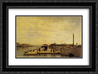 Bolshaya Neva 24x18 Black or Gold Ornate Framed and Double Matted Art Print by Alexey Bogolyubov