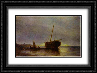 Longboat 24x18 Black or Gold Ornate Framed and Double Matted Art Print by Alexey Bogolyubov