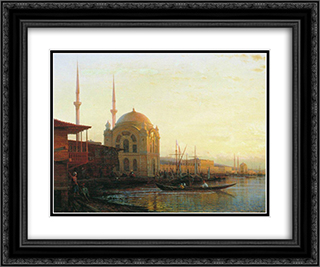 Mosque in Istanbul 24x20 Black or Gold Ornate Framed and Double Matted Art Print by Alexey Bogolyubov