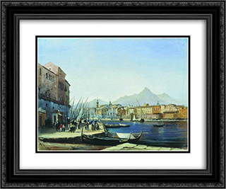 Palermo 24x20 Black or Gold Ornate Framed and Double Matted Art Print by Alexey Bogolyubov