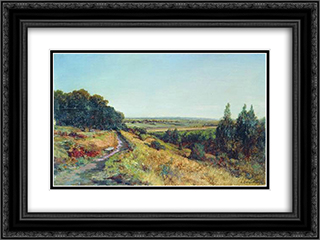 Radishchevskaya estate of Bogolyubov (homestead Ablyazov) 24x18 Black or Gold Ornate Framed and Double Matted Art Print by Alexey Bogolyubov
