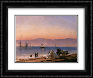 Sinop. Turkey 24x20 Black or Gold Ornate Framed and Double Matted Art Print by Alexey Bogolyubov