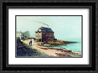 Vel. Normandy 24x18 Black or Gold Ornate Framed and Double Matted Art Print by Alexey Bogolyubov