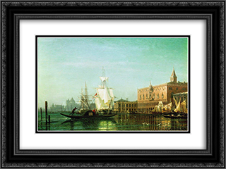 Venice 24x18 Black or Gold Ornate Framed and Double Matted Art Print by Alexey Bogolyubov