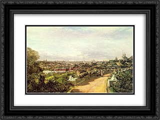 View of Moscow from the house of G.I. Chludov 24x18 Black or Gold Ornate Framed and Double Matted Art Print by Alexey Bogolyubov