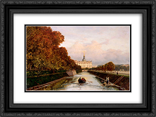 View to Michael's Castle in Petersburg from Lebiazhy Canal 24x18 Black or Gold Ornate Framed and Double Matted Art Print by Alexey Bogolyubov