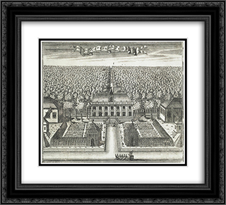 Catherinehof 22x20 Black or Gold Ornate Framed and Double Matted Art Print by Alexey Zubov