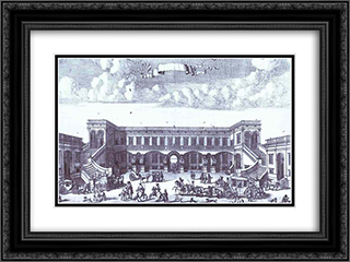 View of the Gagarin's Moscow Mansion from the Courtyard 24x18 Black or Gold Ornate Framed and Double Matted Art Print by Alexey Zubov