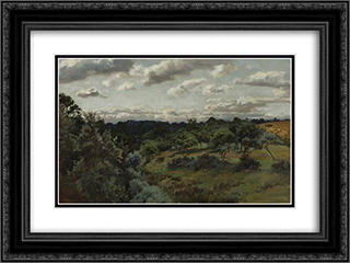 Landscape 24x18 Black or Gold Ornate Framed and Double Matted Art Print by Alfred Parsons