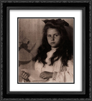 Katherine 20x22 Black or Gold Ornate Framed and Double Matted Art Print by Alfred Stieglitz