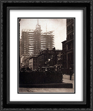 Old and New New York 20x24 Black or Gold Ornate Framed and Double Matted Art Print by Alfred Stieglitz