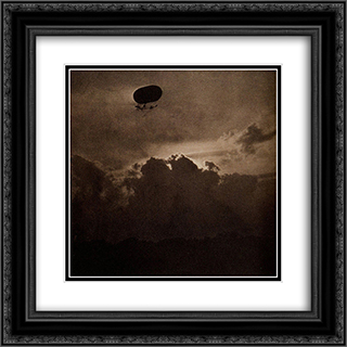 The Dirigible 20x20 Black or Gold Ornate Framed and Double Matted Art Print by Alfred Stieglitz