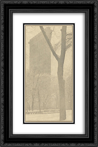 The Flatiron Building 16x24 Black or Gold Ornate Framed and Double Matted Art Print by Alfred Stieglitz
