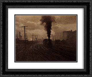 The Hand of Man 24x20 Black or Gold Ornate Framed and Double Matted Art Print by Alfred Stieglitz