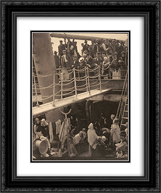 The Steerage 20x24 Black or Gold Ornate Framed and Double Matted Art Print by Alfred Stieglitz