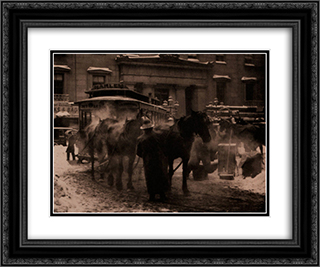 The Terminal 24x20 Black or Gold Ornate Framed and Double Matted Art Print by Alfred Stieglitz