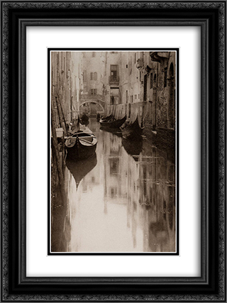Venetian Canal 18x24 Black or Gold Ornate Framed and Double Matted Art Print by Alfred Stieglitz