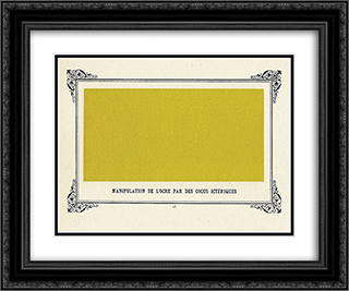 Jaundiced Cuckolds Handling Ochre 24x20 Black or Gold Ornate Framed and Double Matted Art Print by Alphonse Allais
