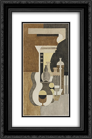 Composition puriste 16x24 Black or Gold Ornate Framed and Double Matted Art Print by Amedee Ozenfant