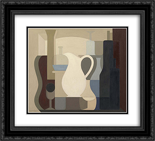 Le pichet blanc 22x20 Black or Gold Ornate Framed and Double Matted Art Print by Amedee Ozenfant