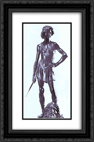 David 16x24 Black or Gold Ornate Framed and Double Matted Art Print by Andrea del Verrocchio