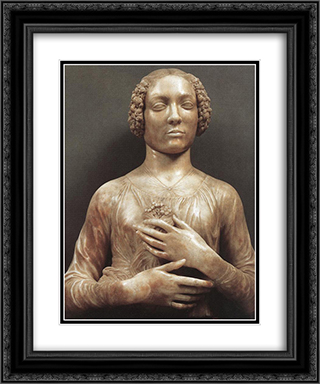 Portrait of a Woman 20x24 Black or Gold Ornate Framed and Double Matted Art Print by Andrea del Verrocchio