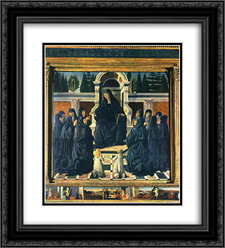 Saint Monica 20x22 Black or Gold Ornate Framed and Double Matted Art Print by Andrea del Verrocchio