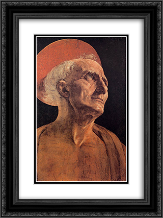 St Jerome 18x24 Black or Gold Ornate Framed and Double Matted Art Print by Andrea del Verrocchio
