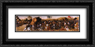 The Battle of Pydna 24x12 Black or Gold Ornate Framed and Double Matted Art Print by Andrea del Verrocchio