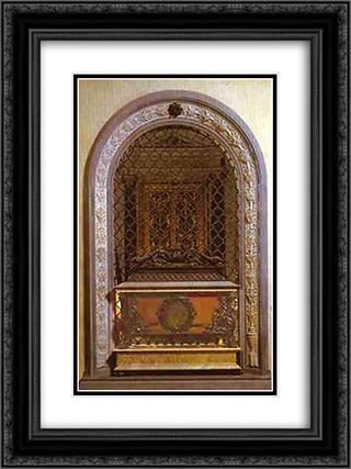 Tomb of Giovanni and Pietro de Medici 18x24 Black or Gold Ornate Framed and Double Matted Art Print by Andrea del Verrocchio