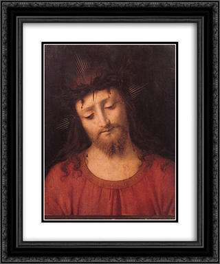 Ecce Homo 20x24 Black or Gold Ornate Framed and Double Matted Art Print by Andrea Solario