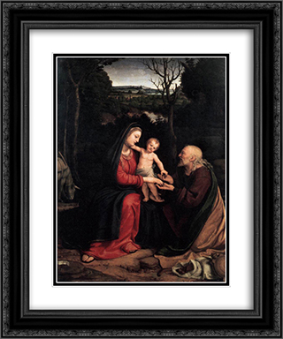 Rest during the Flight to Egypt 20x24 Black or Gold Ornate Framed and Double Matted Art Print by Andrea Solario