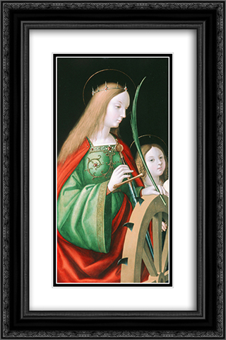 St. Catherine 16x24 Black or Gold Ornate Framed and Double Matted Art Print by Andrea Solario