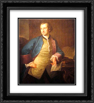 A portrait of John Morgan 20x22 Black or Gold Ornate Framed and Double Matted Art Print by Angelica Kauffman