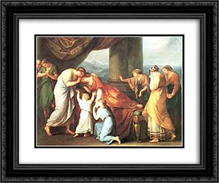 Alcestis 24x20 Black or Gold Ornate Framed and Double Matted Art Print by Angelica Kauffman