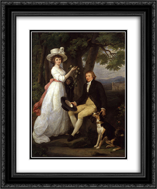 Anna Maria Jenkins and Thomas Jenkins 20x24 Black or Gold Ornate Framed and Double Matted Art Print by Angelica Kauffman