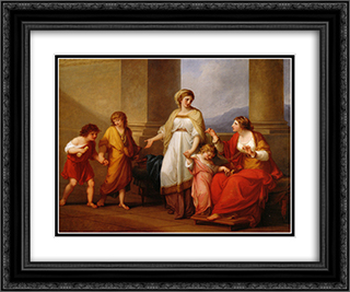 Cornelia Africana 24x20 Black or Gold Ornate Framed and Double Matted Art Print by Angelica Kauffman