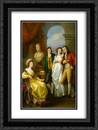 Family portrait of Catherine Petrovna Baryatinskiy 18x24 Black or Gold Ornate Framed and Double Matted Art Print by Angelica Kauffman