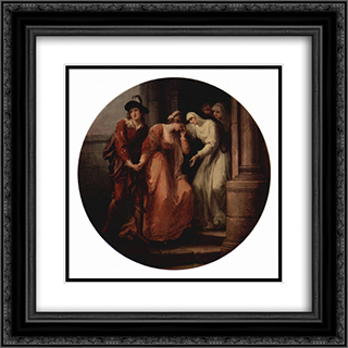 Farewell of Abelard and Heloise 20x20 Black or Gold Ornate Framed and Double Matted Art Print by Angelica Kauffman