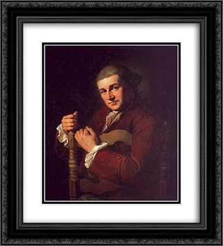 Garrick 20x22 Black or Gold Ornate Framed and Double Matted Art Print by Angelica Kauffman