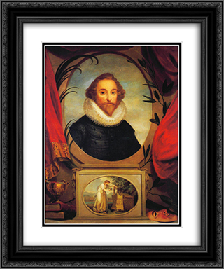 Ideal portrait of Shakespeare 20x24 Black or Gold Ornate Framed and Double Matted Art Print by Angelica Kauffman