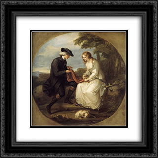Insane Mary 20x20 Black or Gold Ornate Framed and Double Matted Art Print by Angelica Kauffman
