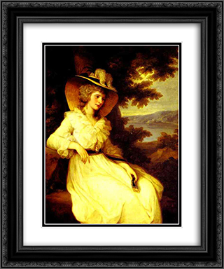 Lady Elizabeth Foster 20x24 Black or Gold Ornate Framed and Double Matted Art Print by Angelica Kauffman