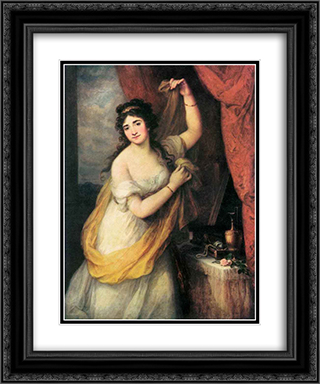 Portrait Of A Woman 20x24 Black or Gold Ornate Framed and Double Matted Art Print by Angelica Kauffman