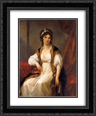 Portrait of a Young Woman 20x24 Black or Gold Ornate Framed and Double Matted Art Print by Angelica Kauffman
