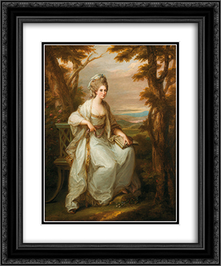Portrait of Anne Loudon, Lady Henderson of Fordall 20x24 Black or Gold Ornate Framed and Double Matted Art Print by Angelica Kauffman