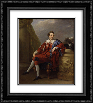 Portrait of John Simpson 20x22 Black or Gold Ornate Framed and Double Matted Art Print by Angelica Kauffman