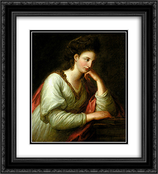 Portrait of Mme Latouce 20x22 Black or Gold Ornate Framed and Double Matted Art Print by Angelica Kauffman